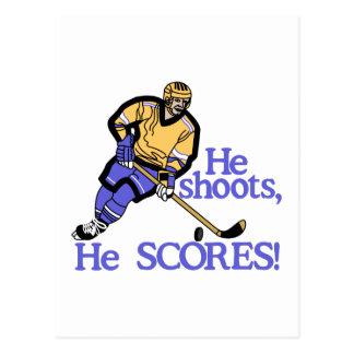 He Shoots He Scores Postcard