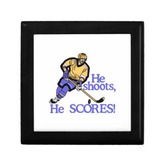 He Shoots He Scores Small Square Gift Box