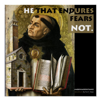 He that Endures Aquinas Resistance poster