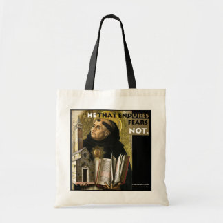 He that Endures Aquinas Resistance tote