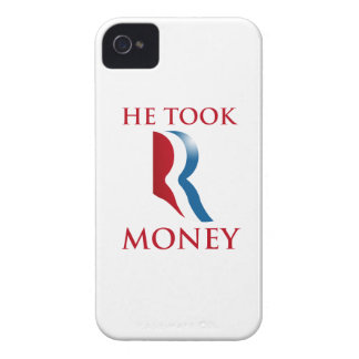 HE TOOK R MONEY.png Case-Mate iPhone 4 Cases