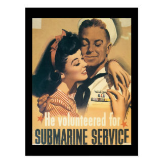 He Volunteered World War II Postcard
