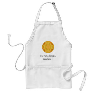 He who learns, teaches. - Ethiopian Proverb Standard Apron