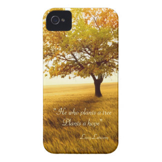 He who plants a tree Plants a hope quote Case-Mate iPhone 4 Cases