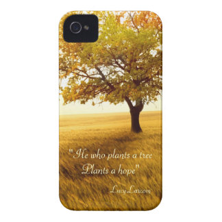 He who plants a tree Plants a hope quote iPhone 4 Cases