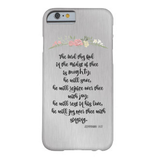 He Will Joy Over Thee with Singing Bible Verse Barely There iPhone 6 Case