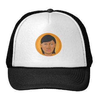 Head - African American Woman Mesh Hats