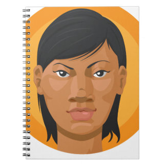 Head - African American Woman Spiral Note Book