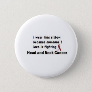Head and Neck Cancer 6 Cm Round Badge