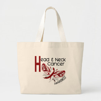 Head and Neck Cancer BUTTERFLY 3.1 Jumbo Tote Bag