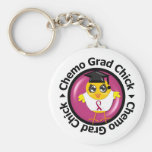 Head and Neck Cancer Chemo Grad Chick Key Chains