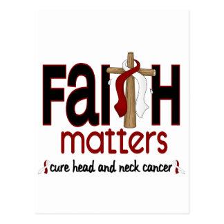 Head and Neck Cancer Faith Matters Cross 1 Postcard
