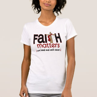 Head and Neck Cancer Faith Matters Cross 1 Tshirt