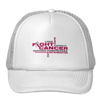 Head and Neck Cancer Fight Collage Mesh Hat