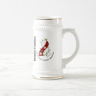 Head and Neck Cancer Flower Ribbon 3 Coffee Mug