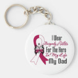 Head and Neck Cancer Hero My Dad Keychains