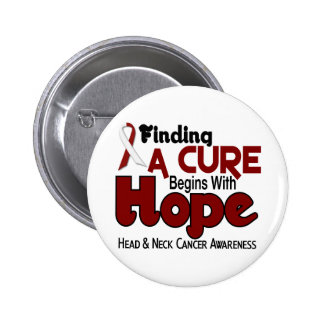 Head and Neck Cancer HOPE 5 6 Cm Round Badge