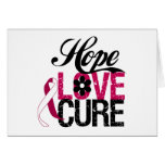 Head and Neck Cancer HOPE LOVE CURE Gifts Cards