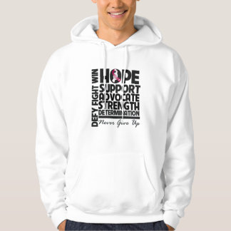 Head and Neck Cancer Hope Support Advocate Hooded Pullovers