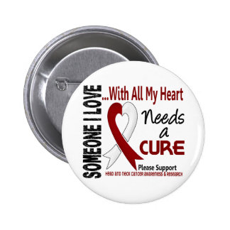 Head and Neck Cancer Needs A Cure 3 6 Cm Round Badge