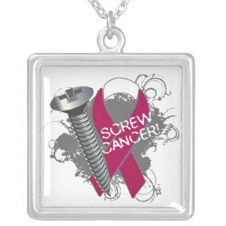 Head and Neck Cancer - Screw Cancer Personalized Necklace