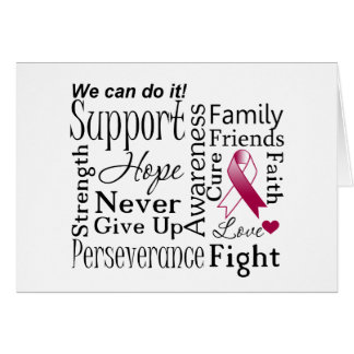 Head and Neck Cancer Supportive Words Greeting Card