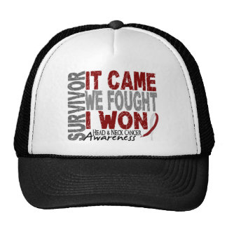 Head and Neck Cancer Survivor It Came We Fought Trucker Hats