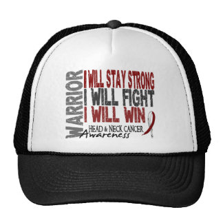 Head And Neck Cancer Warrior Mesh Hats