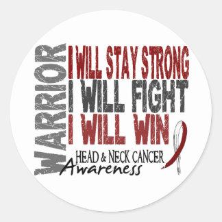 Head And Neck Cancer Warrior Round Sticker