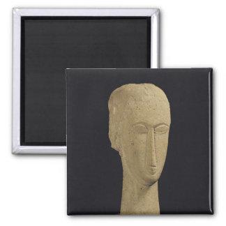 Head, c.1911-12 square magnet