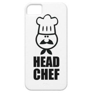 Head chef face & hat black design iPhone 5 cases
