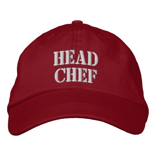 Head Chef Hat Embroidered Baseball Cap