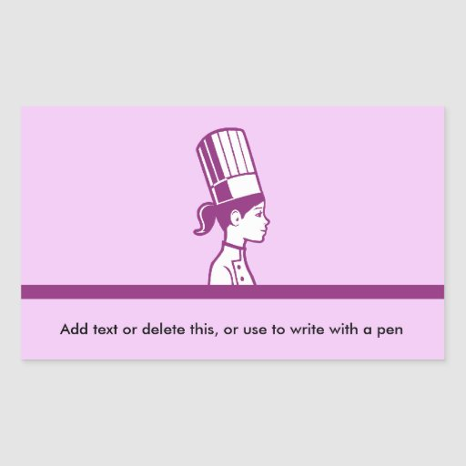 Head Chef Personalized Labels Sticker