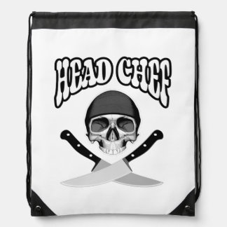 Head Chef Skull (b&w) Backpack
