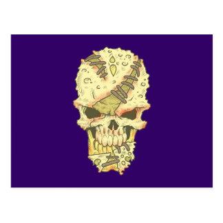 head disintegrating skull rot skull postcards