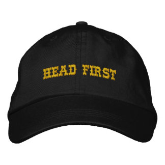 HEAD FIRST EMBROIDERED HAT