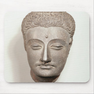 Head from a statue of the Buddha, from Mouse Mat