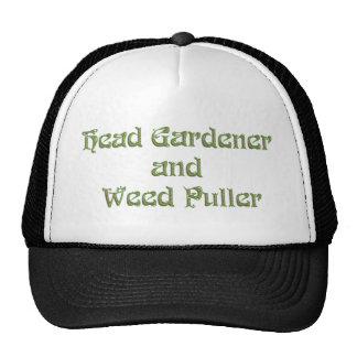 Head Gardener and Weed Puller Cap
