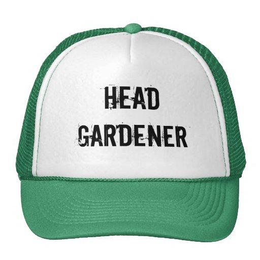 Head gardener funny hat