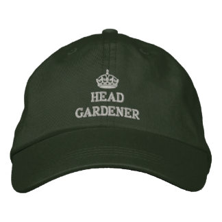 Head gardener with crown embroidered cap