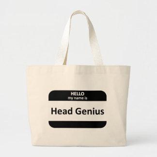 Head Genius Nametag Jumbo Tote Bag