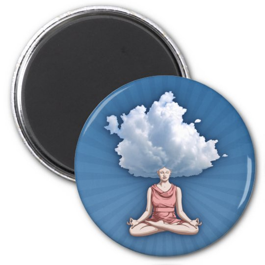 Head in the Clouds 6 Cm Round Magnet
