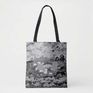 HEAD IN THE CLOUDS- BLACK AND WHITE TOTE BAG