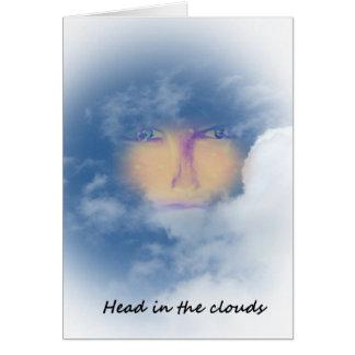 Head in the clouds card