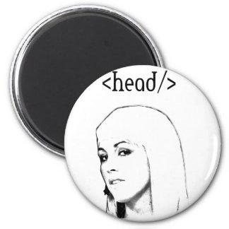 Head keyword fridge magnet