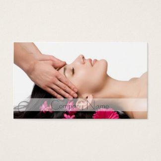 Head Massage / Beauty Salon Spa House Business Card