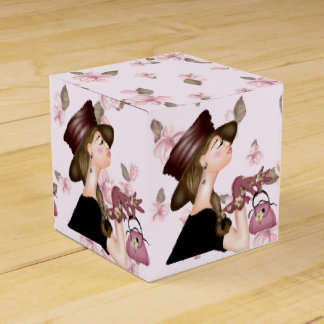 HEAD MODEL CARTOON Classic 2x2 Favor Box Wedding Favour Box