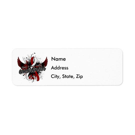 Head Neck Cancer Awareness 16 Return Address Label