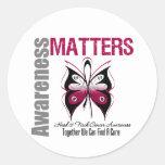 Head Neck Cancer Awareness Matters Round Sticker