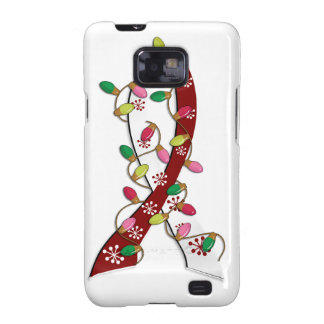 Head Neck Cancer Christmas Lights Ribbon Galaxy SII Cover